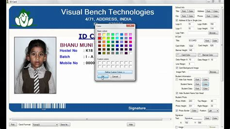 how to make photo id cards digital school id card preparation