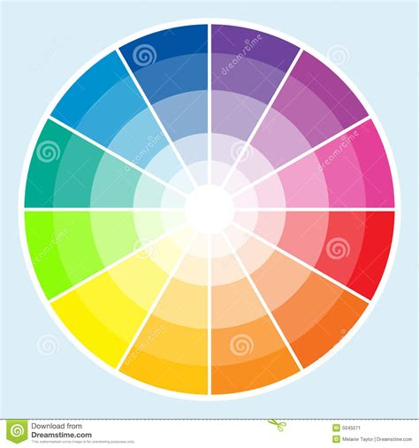 Color Wheel Light Stock Vector Image Of Rainbow Color Color Wheel Light