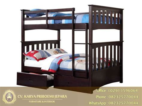 Tempat Tidur Tingkat Kayu Olympic tempat tidur tingkat minimalis kayu jati