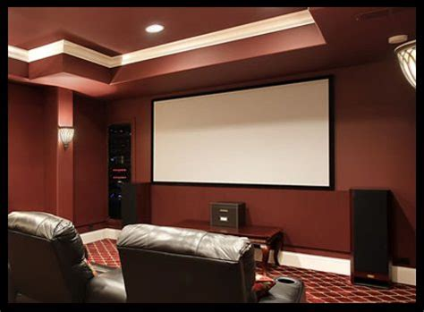projector in living room install a projector and big screen in your living room to