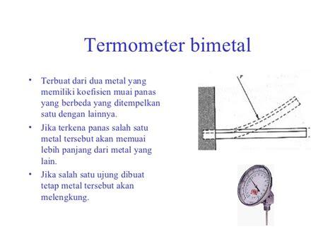 Termometer Bimetal pengukuran temperatur