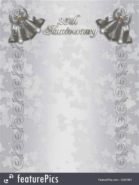 25th wedding anniversary invitation cards templates free 25th wedding anniversary invitations free templates