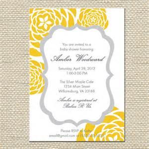 yellow baby shower invitations theruntime