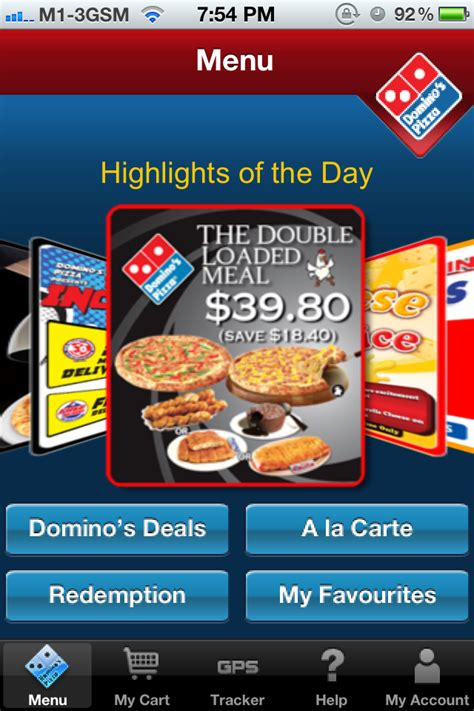 domino pizza of the day www uncletehpeng com domino s pizza iphone app launch omy