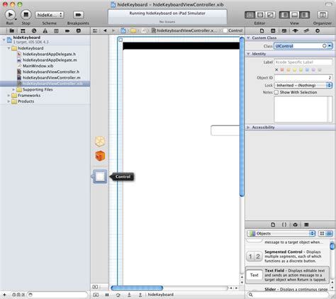 uiview layout event writing ios 4 code to hide the ipad keyboard xcode 4