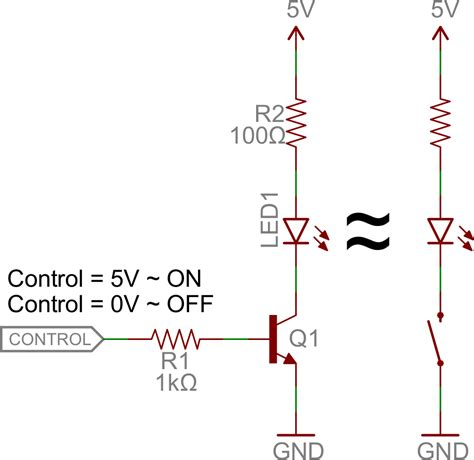 transistor as a high voltage switch transistors learn sparkfun