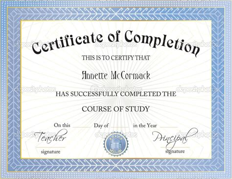 free certificate of completion templates for word art of