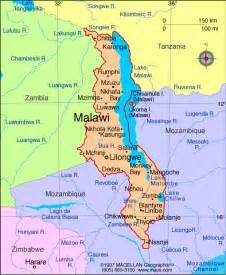 Malawi Africa Map by Atlas Malawi