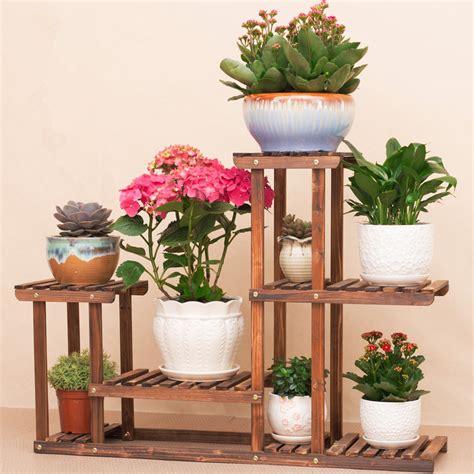 Flower Rack Shelves by Popular Wooden Flower Pot Stand Buy Cheap Wooden Flower