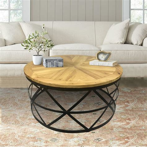 Reclaimed Wood Round Coffee Tables The Coffee Table