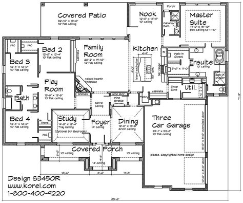 S3450r Texas Tuscan Design Texas House Plans Over 700 Korel House Plans
