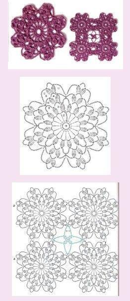 Pola Motif Gurita Pattern Patterns crochet motif pattern crochet motifs