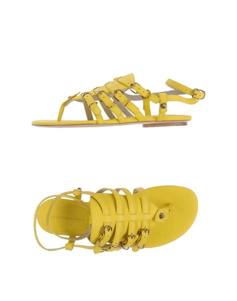 balenciaga sandals in yellow lyst