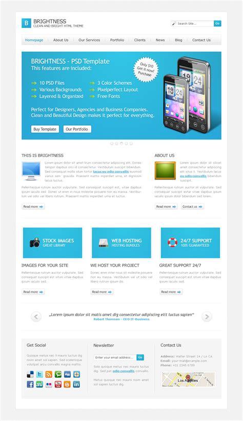html themes online brightness html theme by ilove2design themeforest