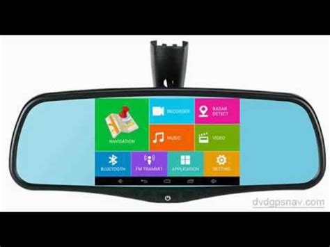 quad core android rear view mirror gps backup camera