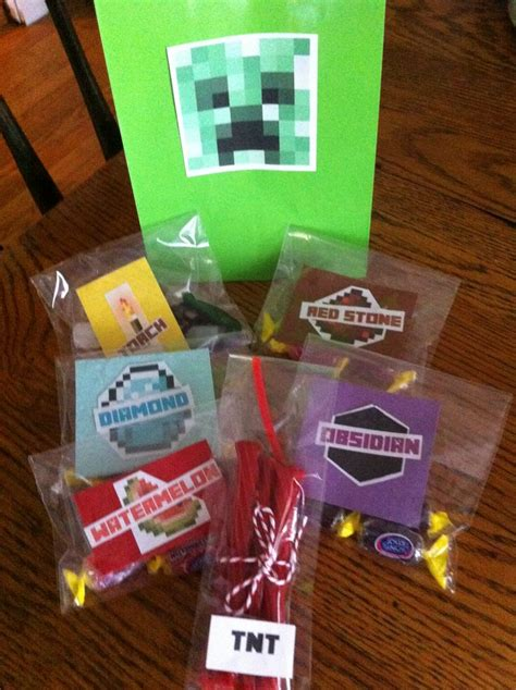 home made party decorations minecraft homemade party favors party it up minecraft