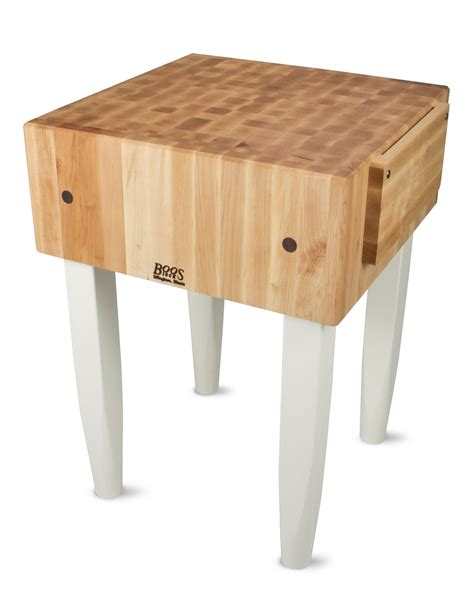 boos butcher block boos pca butcher block with wood knife holder
