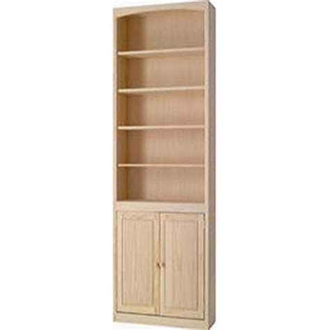 Pine 24 Inch Bookcase With Doors Natural Unfinished Pine Bookcase With Doors