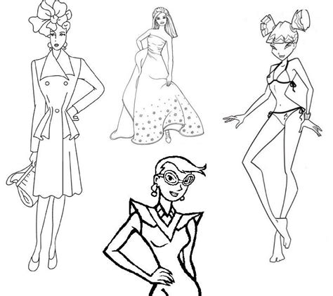 fashion design coloring pages coloring home