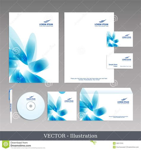 company id card design vector free download corporate identity template royalty free stock image