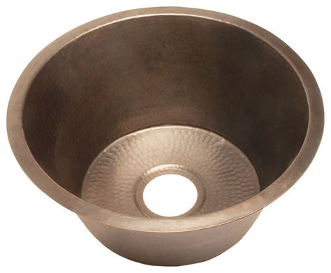 round kitchen sinks belle foret model bfc3kit large round copper kitchen sink