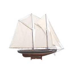 handcrafted nautical decor bluenose 80 quot sailboat
