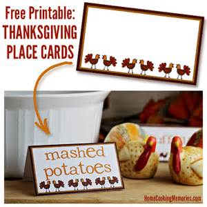 free printables thanksgiving place cards home cooking memories
