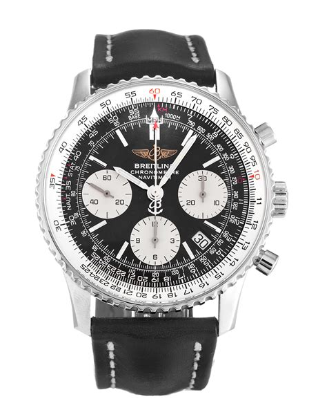 Iwc Portuguis Leather Silver White Matic replica breitling navitimer a23322 41 8 mm breitling