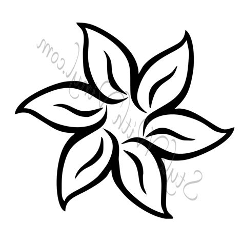 Easy To Draw Flowers easy drawings pencil drawing