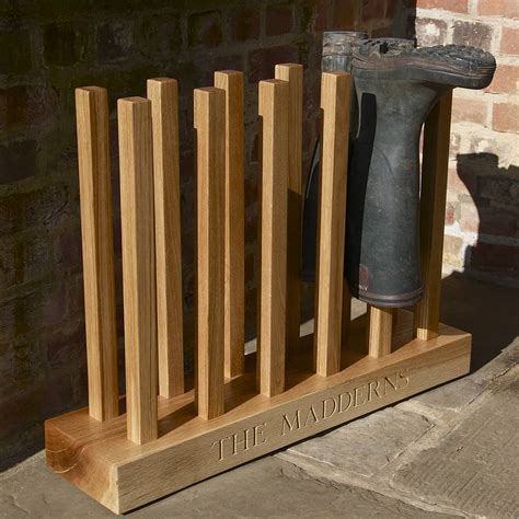 Boot Rack by Personalised Boot Rack By The Oak Rope Company