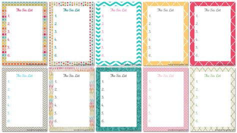 8 best images of cute to do list printable template free
