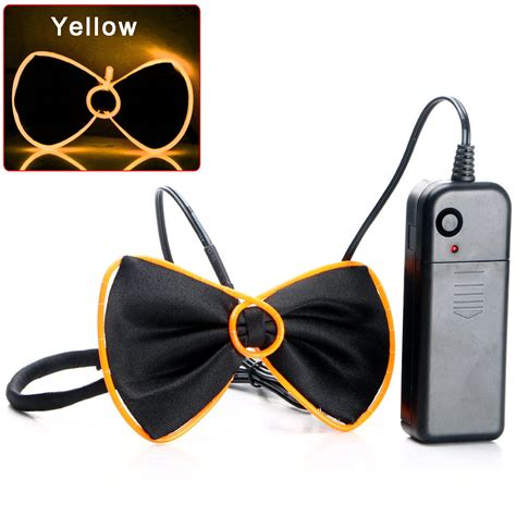 led light up neckties flashing light up el wire bow tie necktie led mens party