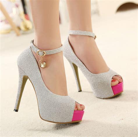 high heels with bling 2015 summer platform 12cm high heels shoes