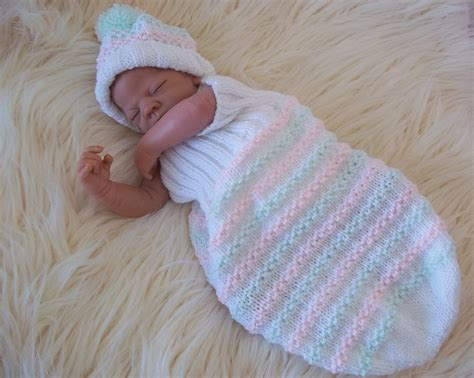 knitted baby cocoon aran knitting pattern 47 to knit cocoon hat set baby boys