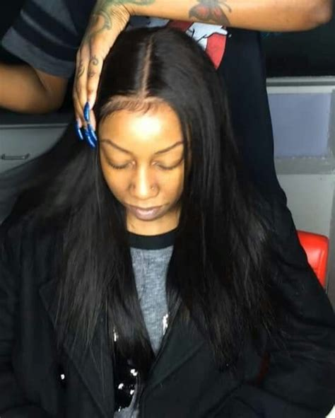 black hair weave part in the middle brazilian straight virgin hair weave extensions 3 bundles