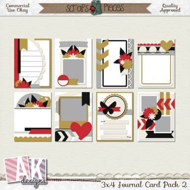 this pack contains eight 3x4 journal card templates these