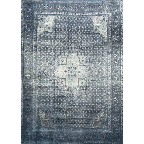 9 X 14 Area Rugs Nuloom Vintage Kellum Blue 9 Ft 11 In X 14 Ft Area Rug Owtc02a 911014 The Home Depot