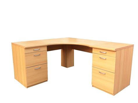 Big Corner Desks Large Corner Desk Office Workstation 3 Drawer Pedestal Option 2