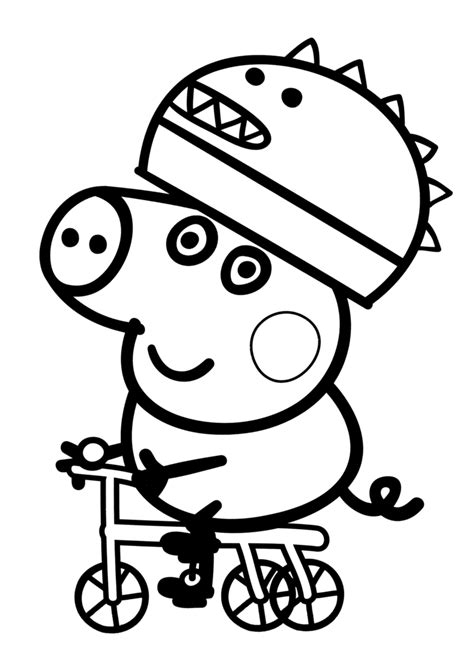 peppa pig birthday coloring page peppa pig birthday coloring pages coloring home