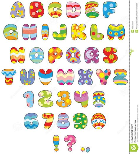 sta lettere easter font stock vector image 49906603