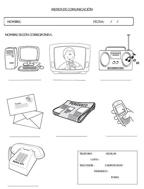 imagenes para colorear los medios de comunicacion resultado de imagen para actividades sobre los medios de