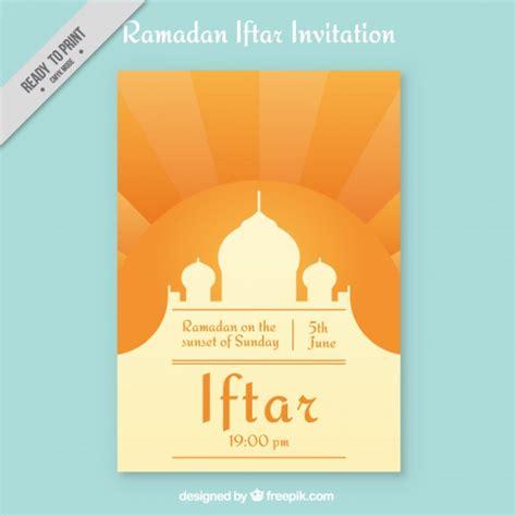 ramadan invitation card template ramadan iftar invitation vector premium