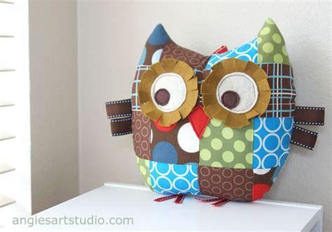Patchwork Owl Cushion Pattern - patchwork elephant quest companions