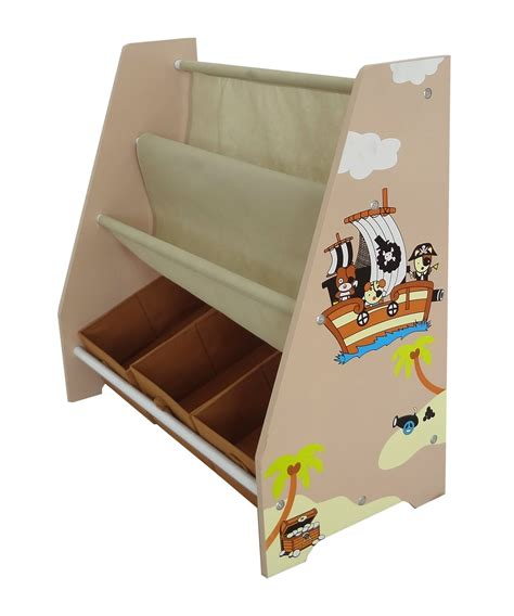 kiddi style pirate themed sling bookshelf and storage