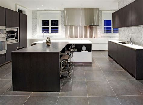 Grey Kitchen Floor Ideas Upscale Bathrooms With Black Countertops Home Designs Project