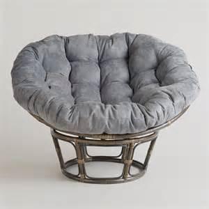 Gray Papasan Cushion Charcoal Micro Suede Papasan Chair Cushion World Market