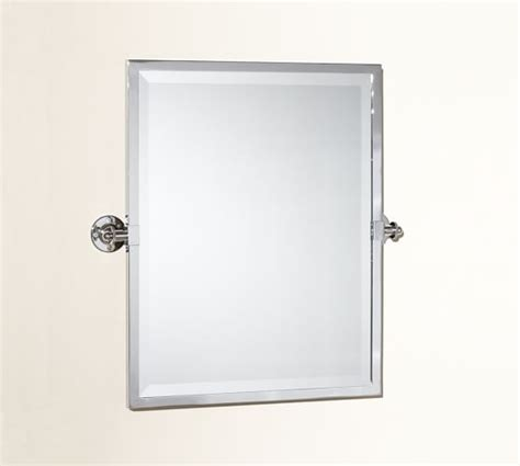 square pivot bathroom mirror kensington pivot rectangular mirror pottery barn
