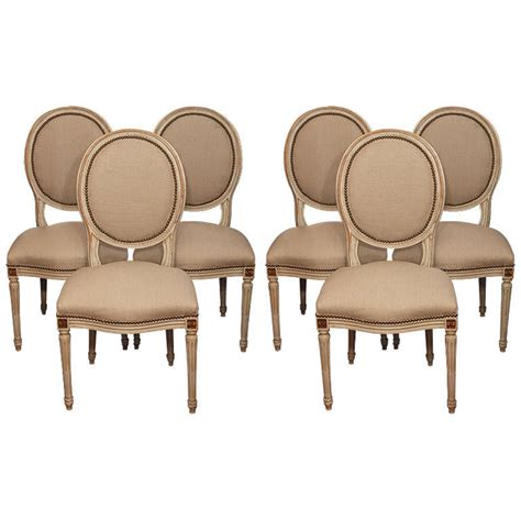 Dining Room Chairs Set Of 6 Set Of 6 Louis Xvi Style Dining Room Chairs At 1stdibs