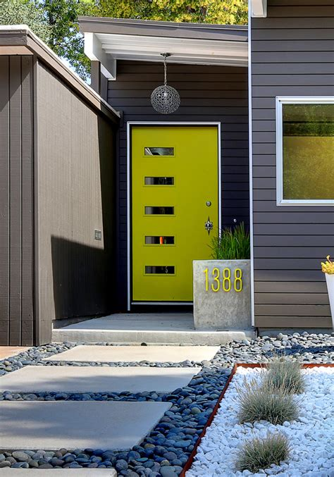 lime green door the prettiest front doors front door ideas