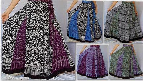 u460 boho batik print skirt belt with inset fabric maxi